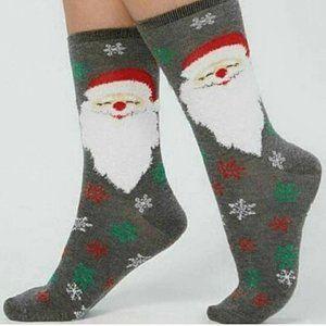 NWT Charter Club Macy's Santa Christmas Socks OS